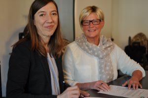 Prof. Dr. Katja Becker, Hochschule Hamm-Lippstadt, und Ruth Heinemann, Präsidentin SI-Lippstadt